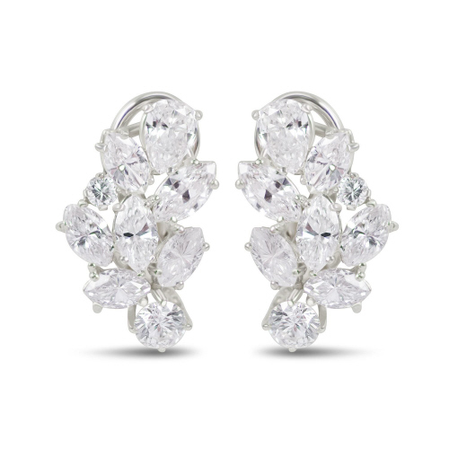 14kwg Diamond Cer Earrings W Hangers Tdw 5 70ct 2rnd 0 I Si1 Gia2175060143 Gia1172060070 Dias 00ct H Vs2 55dwt Estimated Weights